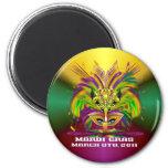 Mardi-Gras-Mask-The-Queen-V-4 Iman De Frigorífico