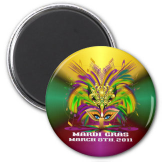 Mardi-Gras-Mask-The-Queen-V-4 Magnet