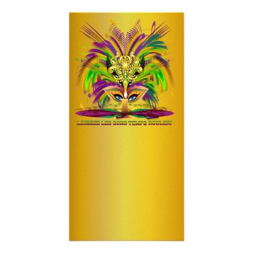 Mardi-Gras-Mask-The-Queen-V-4 Photo Card