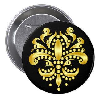 Mardi-Gras-Mask-The-Queen-V-4 Pin Redondo De 3 Pulgadas