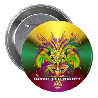 Mardi-Gras-Mask-The-Queen-V-4 Pinback Button