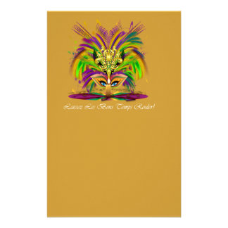 Mardi-Gras-Mask-The-Queen-V-4 Stationery Paper