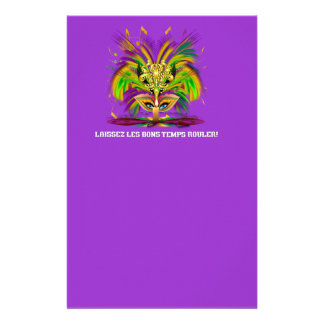 Mardi-Gras-Mask-The-Queen-V-4 Stationery