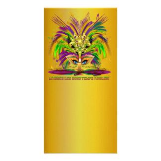 Mardi-Gras-Mask-The-Queen-V-4 Tarjetas Fotograficas Personalizadas