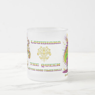 Mardi-Gras-Mask-The-Queen-V-4, The Queen Frosted Glass Coffee Mug