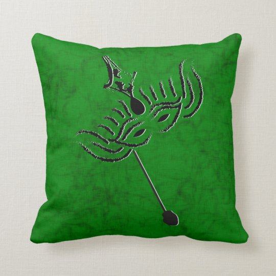 Mardi Gras Mask Throw Pillow