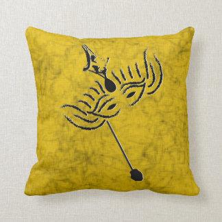 Mardi Gras Mask Throw Pillow
