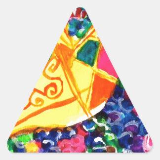 Mardi Gras Mask Triangle Sticker