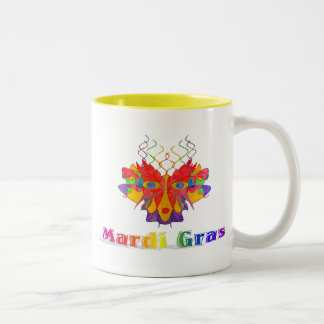 Mardi Gras Mask Two-Tone Coffee Mug