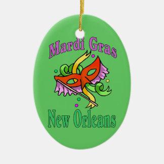 Mardi Gras Masking Ceramic Ornament
