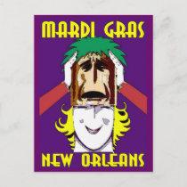 Mardi Gras Masking postcards