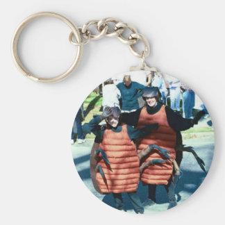 Mardi Gras Masking Roaches Basic Round Button Keychain