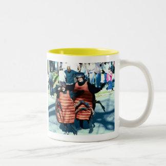 Mardi Gras Masking Roaches Two-Tone Coffee Mug