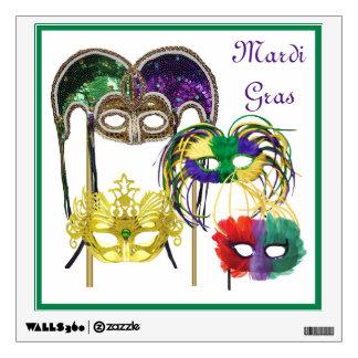 Mardi Gras Masks 1 Wall Decal