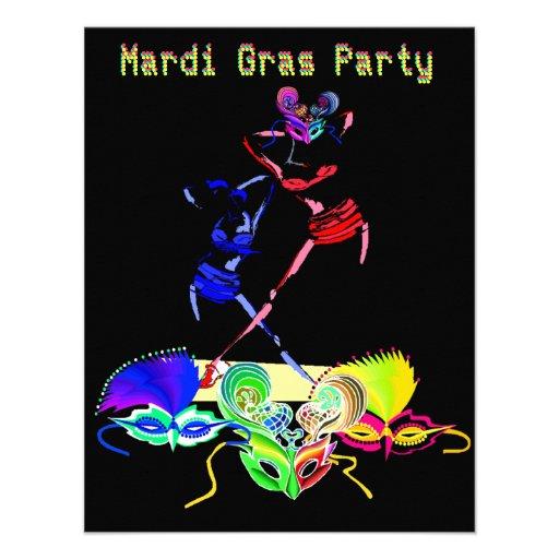 mardi gras party invitations