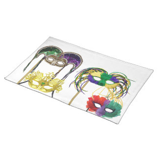 Mardi Gras Masks Placemats