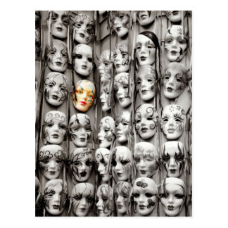 Mardi Gras Masks Postcard