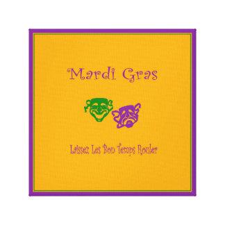 Mardi Gras Masks Rouler Canvas Print
