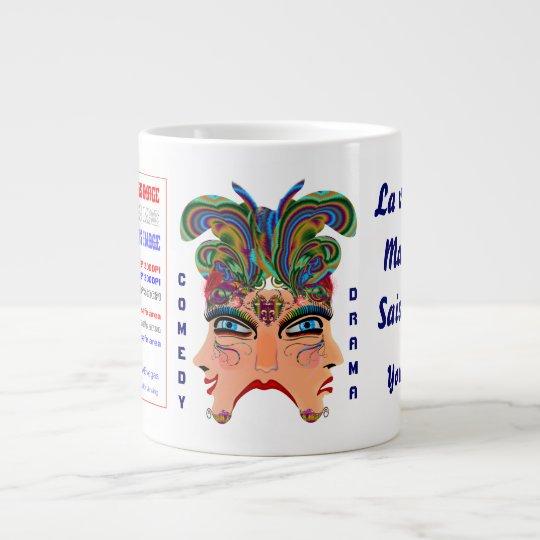 Mardi Gras Masq Comedy Drama View Hints Plse Large Coffee Mug