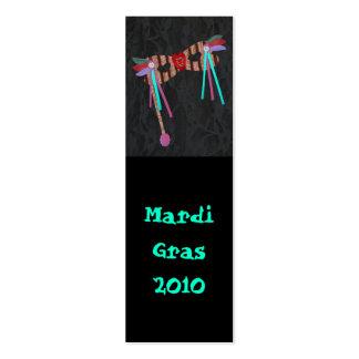 Mardi Gras Masque, Bookmark Business Card