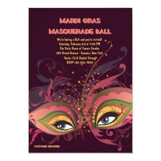 Mardi Gras Masquerade Ball Invitation
