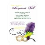 Mardi Gras Masquerade Ball Mask Costume Halloween 5x7 Paper Invitation Card