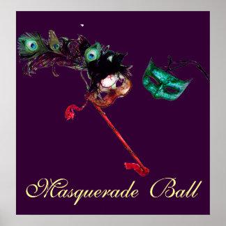 MARDI GRAS MASQUERADE BALL ,Purple Poster