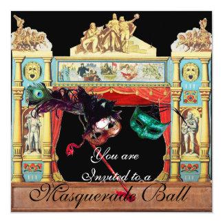 MARDI GRAS MASQUERADE BALL THEATRE STAGE CARD
