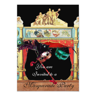 MARDI GRAS MASQUERADE BALL THEATRE STAGE CARD