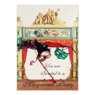 MARDI GRAS MASQUERADE BALL THEATRE STAGE champagne Card
