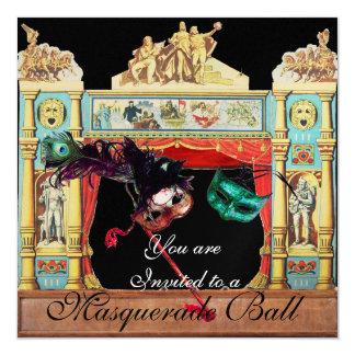 MARDI GRAS MASQUERADE BALL THEATRE STAGE GOLD CARD