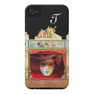 MARDI GRAS MASQUERADE BALL THEATRE STAGE Monogram iPhone 4 Case