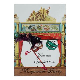 MARDI GRAS MASQUERADE BALL THEATRE STAGE silver Card