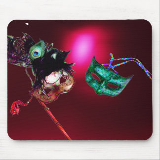 MARDI GRAS MASQUERADE burgundy Mouse Pad