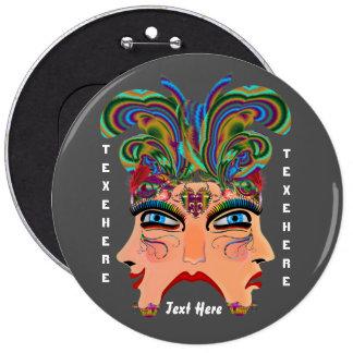 Mardi Gras Masquerade Comedy Drama View Hints Plse Pinback Buttons