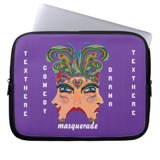 Mardi Gras Masquerade Comedy Drama View Hints Plse Computer Sleeve