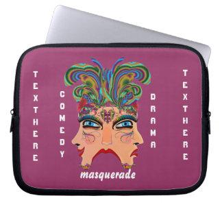 Mardi Gras Masquerade Comedy Drama View Hints Plse Computer Sleeves