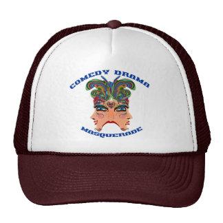 Mardi Gras Masquerade Comedy Drama View Hints Plse Trucker Hat