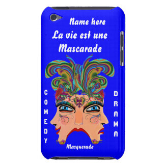 Mardi Gras Masquerade Comedy Drama View Hints Plse iPod Touch Case