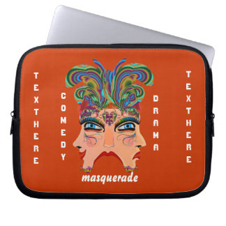 Mardi Gras Masquerade Comedy Drama View Hints Plse Laptop Computer Sleeve