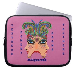 Mardi Gras Masquerade Comedy Drama View Hints Plse Laptop Computer Sleeves