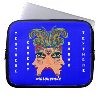 Mardi Gras Masquerade Comedy Drama View Hints Plse Laptop Sleeve