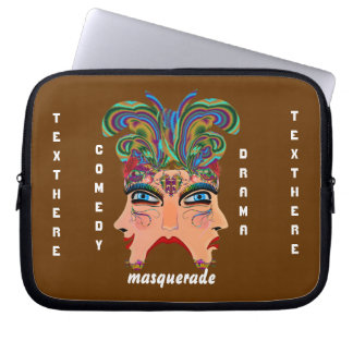 Mardi Gras Masquerade Comedy Drama View Hints Plse Laptop Sleeve