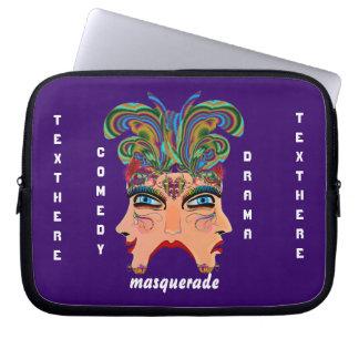 Mardi Gras Masquerade Comedy Drama View Hints Plse Laptop Sleeves