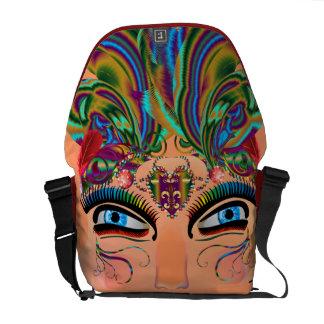 Mardi Gras Masquerade Comedy Drama View Hints Plse Messenger Bag