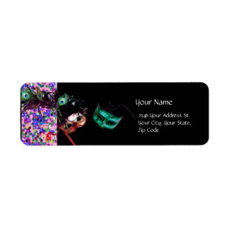 MARDI GRAS MASQUERADE Confetti black Label