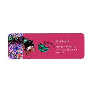 MARDI GRAS MASQUERADE Confetti Label