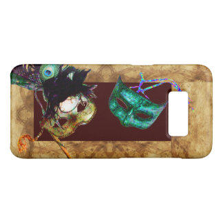 MARDI GRAS MASQUERADE MASKS BROWN PARCHMENT Case-Mate SAMSUNG GALAXY S8 CASE