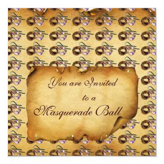 MARDI GRAS MASQUERADE MASKS Classy Parchment Card