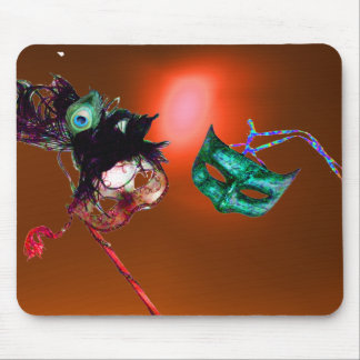 MARDI GRAS MASQUERADE orange Mouse Pad